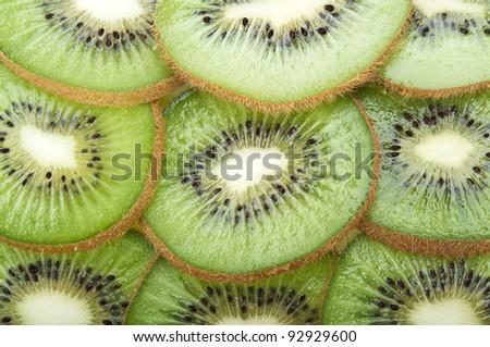 fresh green kiwi on a background - stock photo