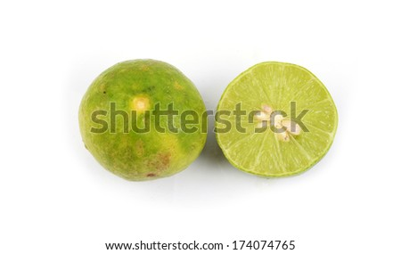fresh green Lime  isolated