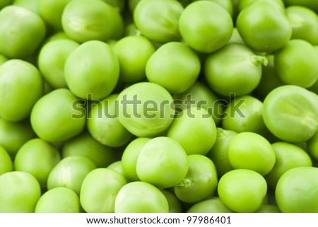 fresh green peas isolated on a white background. Studio photo