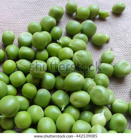 Fresh green peas â?? Stock Image - stock photo