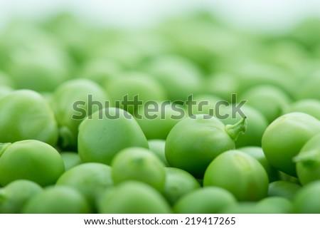 fresh green peas. Studio photo - stock photo