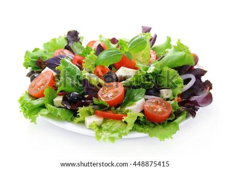 Fresh green salad.  - stock photo