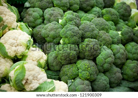 Fresh green vegetables - broccoli - stock photo