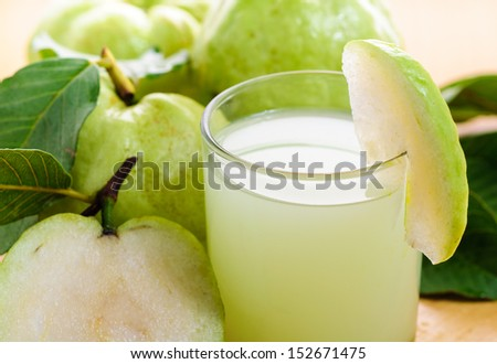 fresh guava juice - stock photo