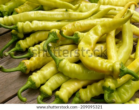 fresh harvested giant hot peppers - stock photo