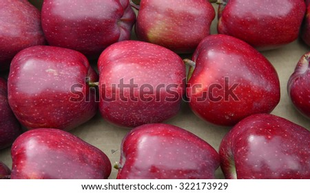 Fresh harvested   red  apples. Diet concept