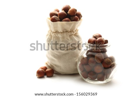 Fresh hazelnuts - stock photo