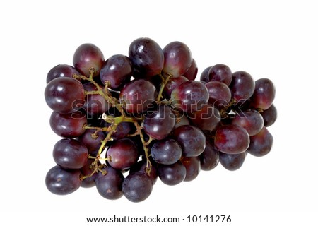 Fresh healthy bio fruit for daily vitamins, white background, - stock photo