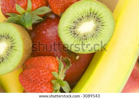 fresh healthy fruit background