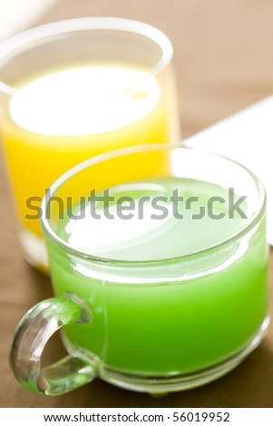 Fresh healthy fruit juices