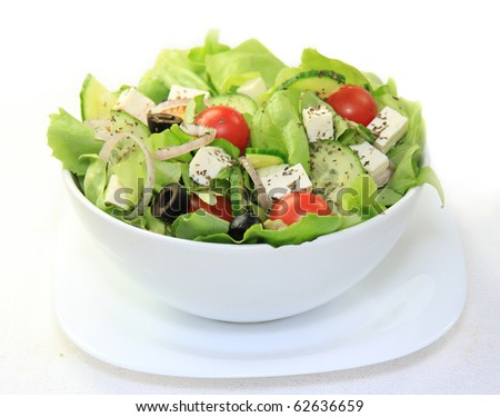Fresh healthy garden salad