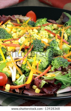 fresh healthy salad made with organic ingredients