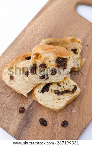 fresh home made raisin bread