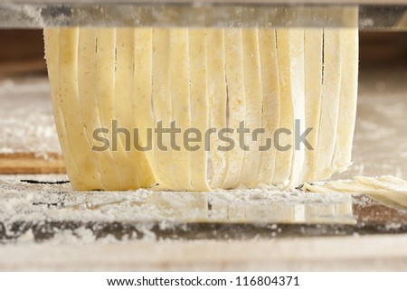 Fresh Homemade Pasta against a background