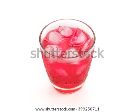 fresh, ice cold water in glass - stock photo