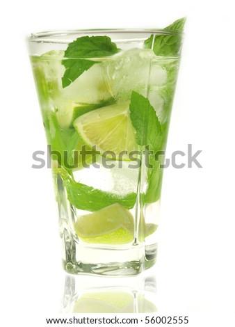 Fresh ice mojito - stock photo