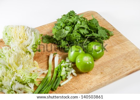 Fresh ingredients ready for mexican cooking - stock photo