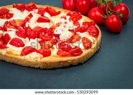 Hot Tasty Pizza Salami Close Stock Photo 351346643 ...