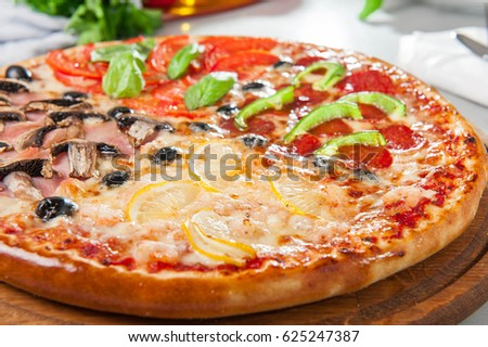 Fresh Italian Four Seasons Pizza Pizza Stock Photo (Royalty Free) 625247387    Shutterstock