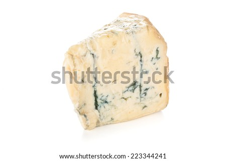 Fresh Italian gorgonzola isolated on white background.