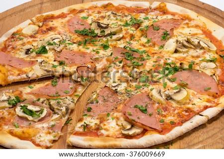 Fresh italian pizza - stock photo