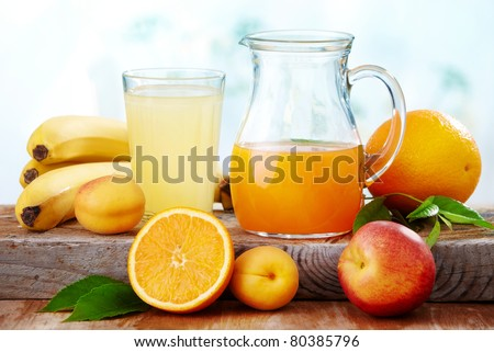 fresh juice - stock photo