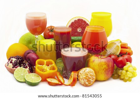 fresh juice - stock photo