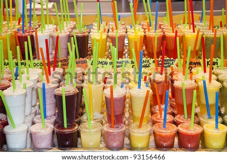 fresh juices - stock photo