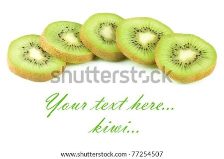 Fresh juicy kiwi isolated on white background - stock photo