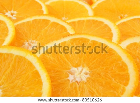 Fresh juicy orange slices background