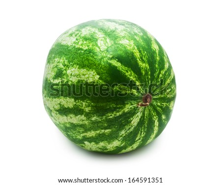 Fresh juicy watermelon isolated on white background