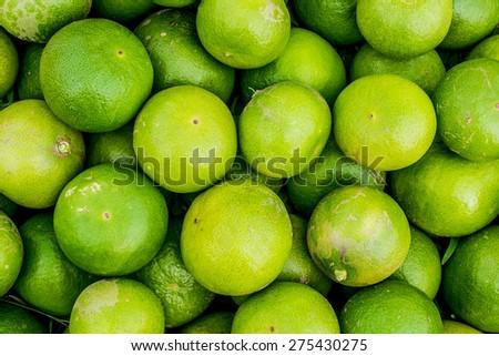 Fresh key limes - stock photo