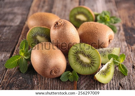 fresh kiwi - stock photo