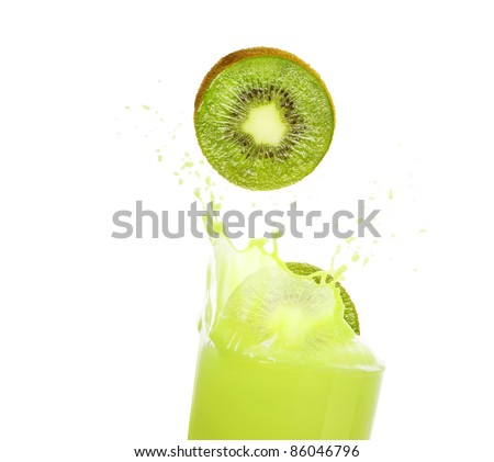fresh kiwi juice - stock photo