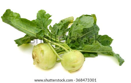 fresh kohlrabi isolated on white background