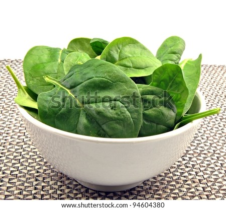 Fresh leaves of spinach