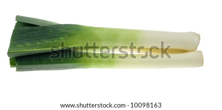 fresh leek isolated on a white background