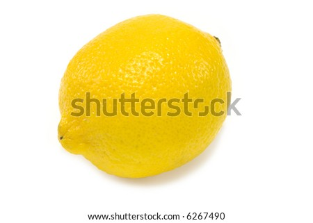 Fresh Lemon isolated on white background 2