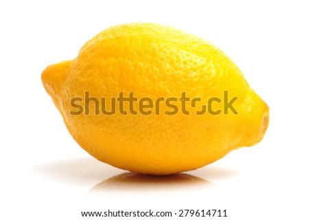 Fresh lemon on white background - stock photo