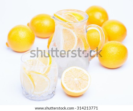 fresh lemons - stock photo