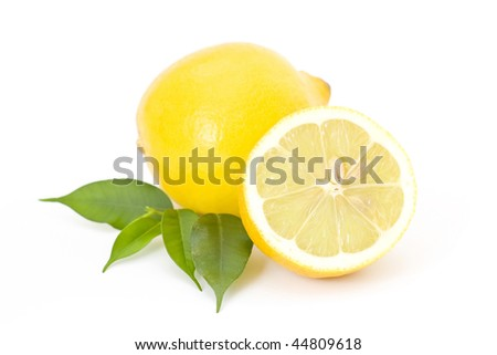 fresh lemons - stock photo