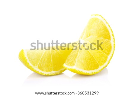 Fresh lemons on a white background - stock photo