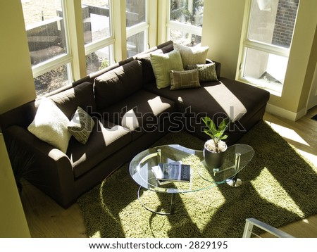 fresh looking living room