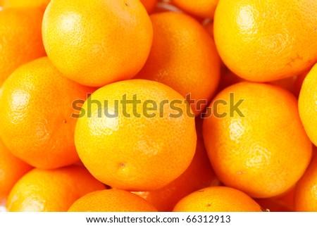 fresh mandarines - stock photo
