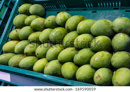 fresh mango sell in supermarket