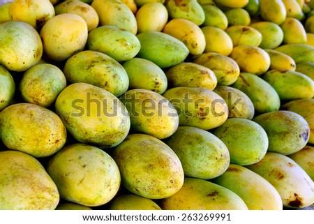 Fresh mangoes fruit for sale - stock photo