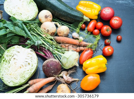 Fresh market vegetables