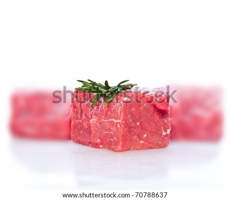 fresh meat on slice - stock photo