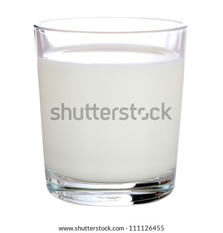 Fresh Milk in a glass isolated on white