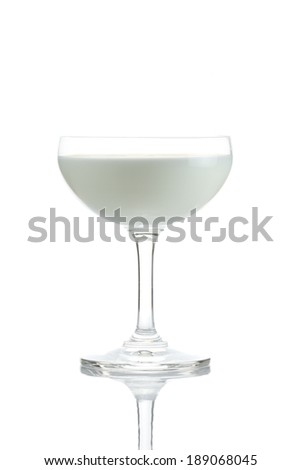 Fresh milk in glass of isolated on white background.
